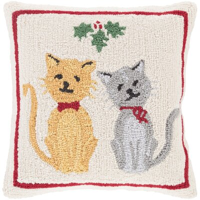 Brimfield Cats Winter Pillow Cover Fill Type: Polyester