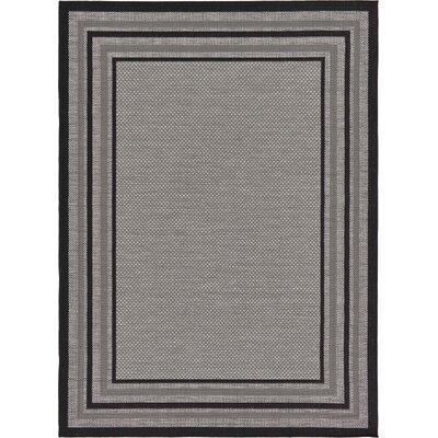 Albermarle Gray Outdoor Area Rug Rug Size: 7 x 10