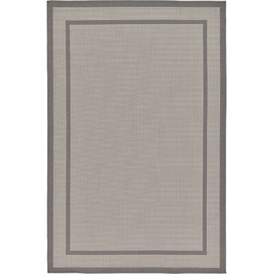 Ames Gray/Silver Outdoor Area Rug Rug Size: 5 x 8