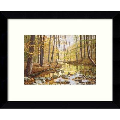 Golden Flow Forest Framed Painting Print