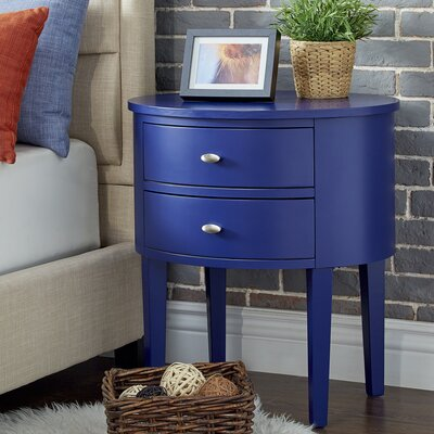 Canterbury 2 Drawer End Table Finish: Twilight Blue