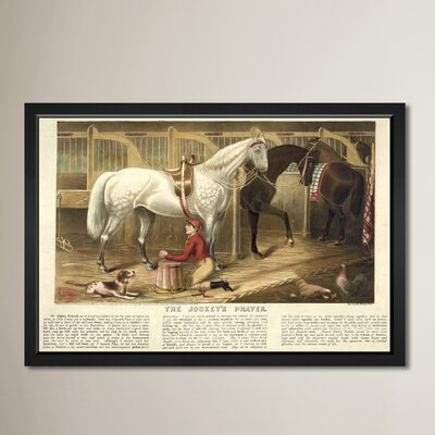 The Jockey's Prayer Framed Graphic Art