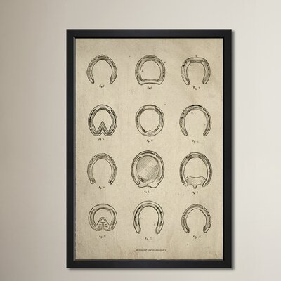 Antique Horseshoes Framed Painting Print