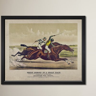 The Great Race Framed Graphic Art