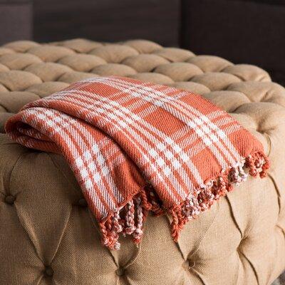 Southington 100% Cotton Throw Blanket Color: Brick