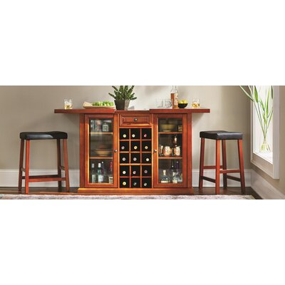 Shady Dale Bar Cabinet with Wine Storage Finish: Classic Cherry