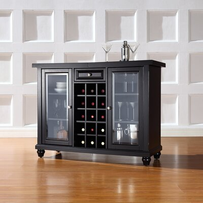Shady Dale Bar Cabinet with Wine Storage Finish: Black