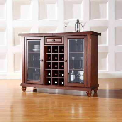 Shady Dale Bar Cabinet with Wine Storage Finish: Vintage Mahogany