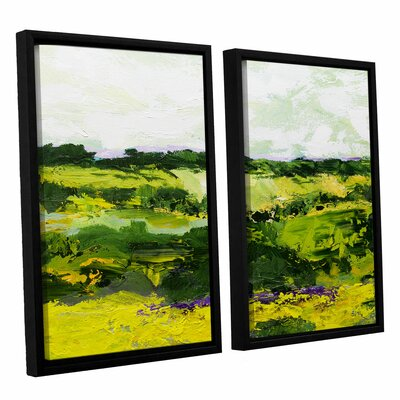 White Hill 2 Piece Framed Painting Print on Canvas Set