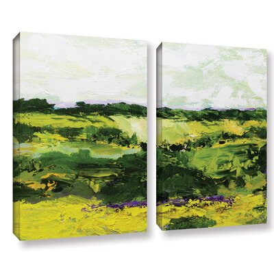 White Hill 2 Piece Painting Print on Wrapped Canvas Set