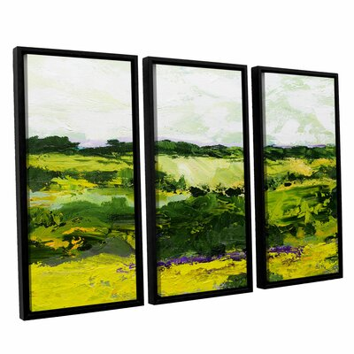 White Hill 3 Piece Framed Painting Print on Canvas Set