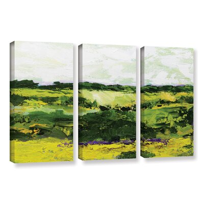 White Hill 3 Piece Painting Print on Wrapped Canvas Set