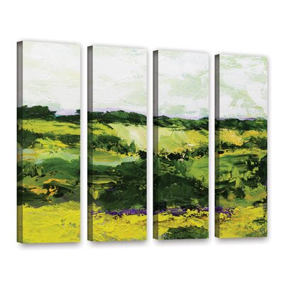 White Hill 4 Piece Painting Print on Wrapped Canvas Set