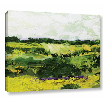 White Hill Painting Print on Wrapped Canvas