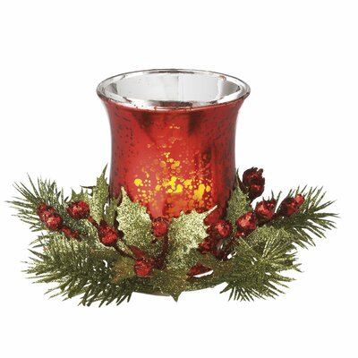 Classic Christmas LED Votive with Berries