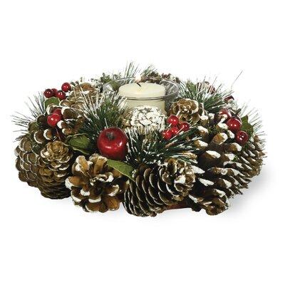Faux Wreath Candleholder