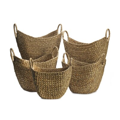 Three Posts 5 Piece Tapered Woven Basket Set