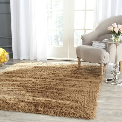 Isacc Faux Skin Camel Area Rug Rug Size: Rectangle 4 x 6