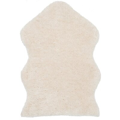 Isacc Hand-Tufted Ivory Area Rug Rug Size: 2 x 3