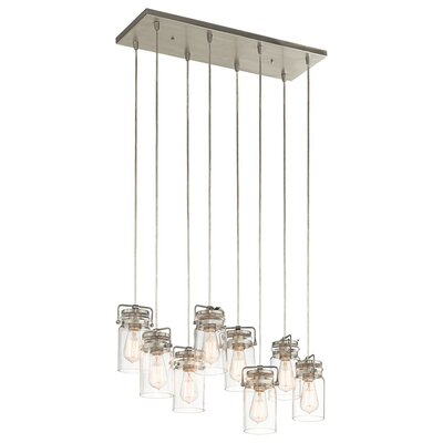 Ehrhart 8-Light Pendant Finish: Brushed Nickel