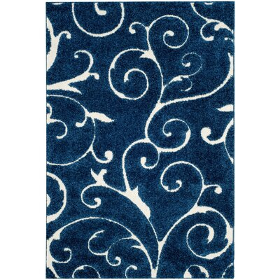 Alison Light Blue/Cream Area Rug