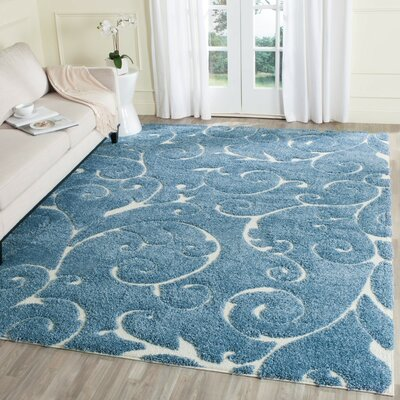 Alison Light Blue / Cream Area Rug Rug Size: Runner 23 x 9