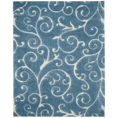 Alison Light Blue / Cream Area Rug Rug Size: 86 x 12