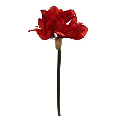 Silk Amaryllis Bloom Spray Color: Red