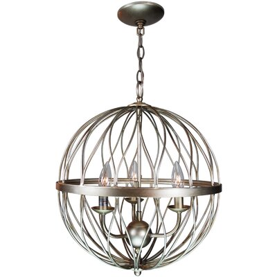 Brittain 3-Light Globe Pendant Finish: Antique Silver