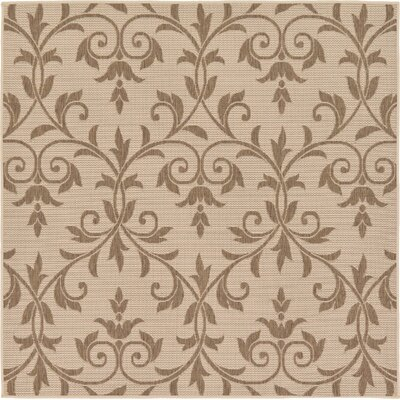 Kulshan Beige/Brown Outdoor Area Rug Rug Size: Square 6