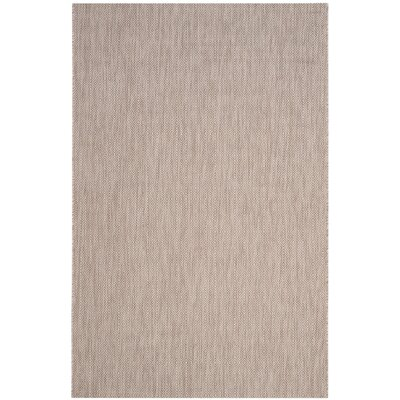 Adelia Beige Indoor/Outdoor Area Rug Rug Size: 53 x 77