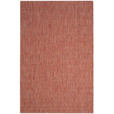 Adelia Red Indoor/Outdoor Area Rug Rug Size: Rectangle 2 x 37