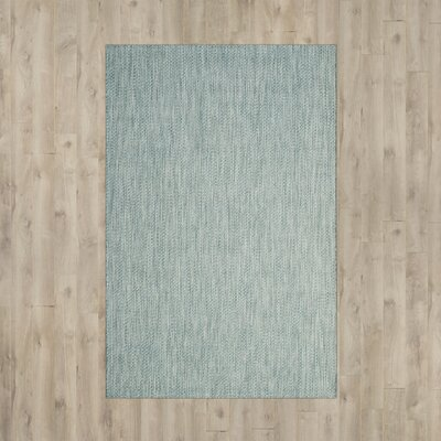 Adelia Aqua/Gray Area Rug Rug Size: Rectangle 9 x 12
