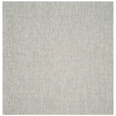 Adelia Gray/Turquoise Indoor/Outdoor Area Rug Rug Size: Square 67