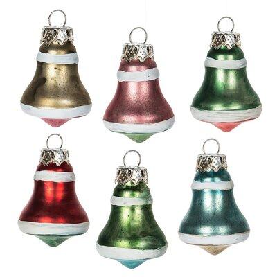 6 Piece Mini Bell Ornament Set