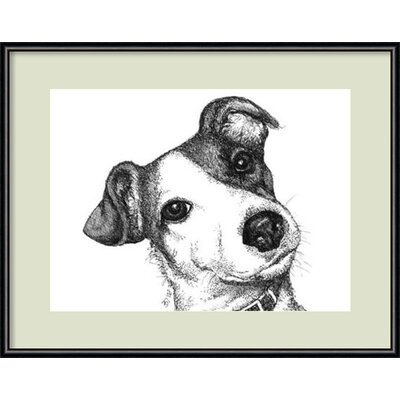 Robbie the Jack Russell Dog Framed Graphic Art