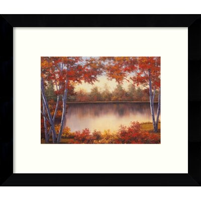 Red & Gold Autumn Landscape Framed Graphic Art