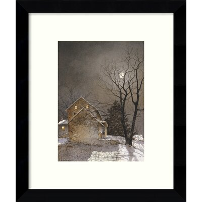 Working Late Framed Painting Print