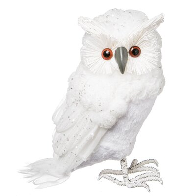 Winter Foam Owl Table Decor