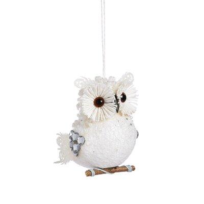 Glitter and Bead Owl Foam Ornament