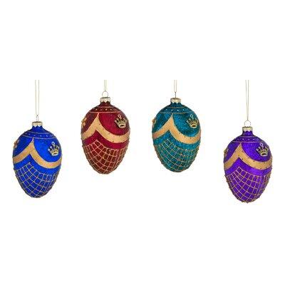 Embellished Egg Glass Ornament THRE8018 31637854