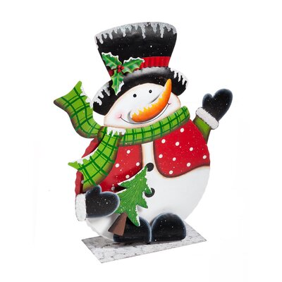 Portly Snowman Outdoor Decor Oversized Figurine
