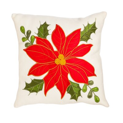 Bradwood Poinsettia Outdoor Throw Pillow
