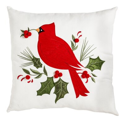 Braesgate Holiday Cardinal Outdoor Throw Pillow