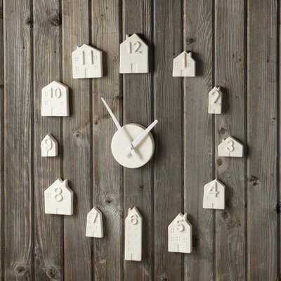 Porcelain Bisque House Wall Clock