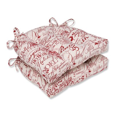 Holiday Poinsettia Reversible Chair Pad