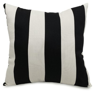 Dazelle Indoor/Outdoor Throw Pillow Size: Extra Large, Fabric: Black