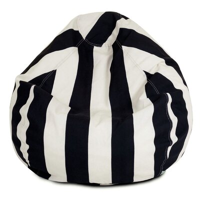 Stripes Bean Bag Chair Upholstery: Black