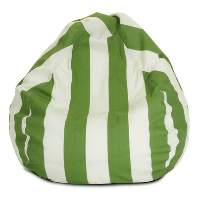 Stripes Bean Bag Chair Upholstery: Sage