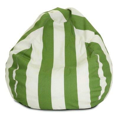 Stripes Bean Bag Chair Upholstery: Sage